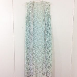 Jackets & Blazers - Vintage 1960's Boho Lace and Beaded Sequin Vest